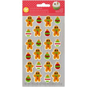 Gingerbread Boy and Ornament Icing Decorations