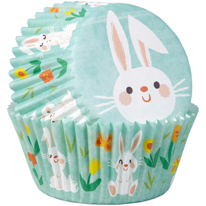 Easter Bunny Cupcake Liners, 75-Count image number 2
