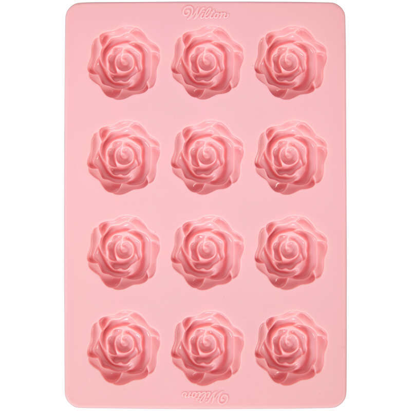 Rose Silicone Candy Mold, 12-Cavity image number 0