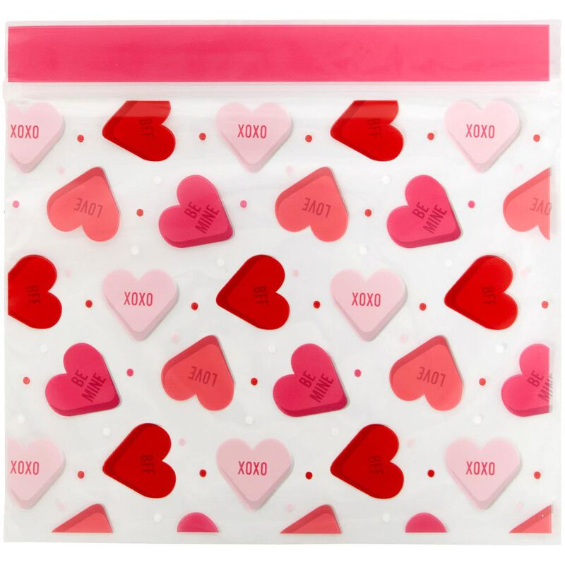 Valentine's Day Conversation Heart Resealable Treat Bags, 20-Count image number 2