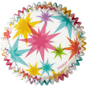 Multicolor Starburst Cupcake Liners 50 Count