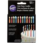 Color Flame Candles, 12 Count