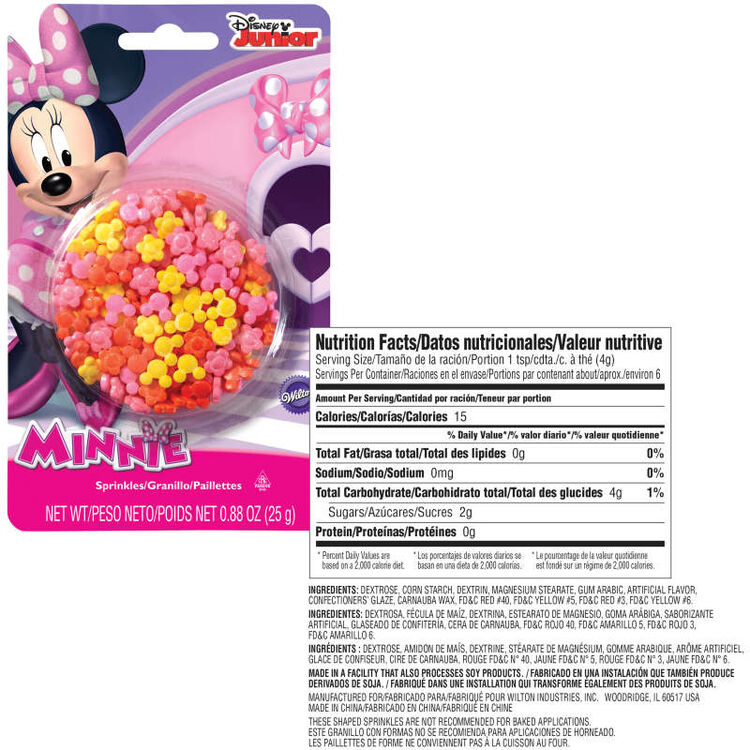 Minnie Mouse Sprinkles Nutrition Facts