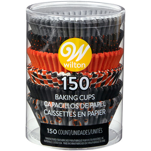 Halloween Designs Cupcake Liners, 150-Count