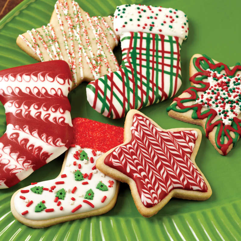 Red & Green Holiday Cookie Icing, Multipack of 6 image number 5