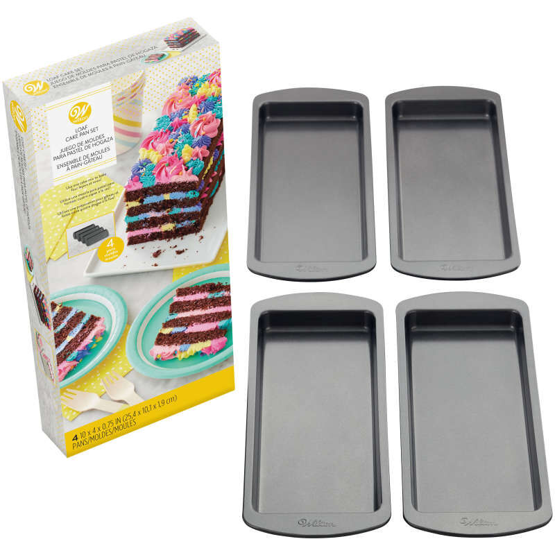Easy Layers! 10 x 4-Inch Loaf Cake Pan Set, 4-Piece image number 2