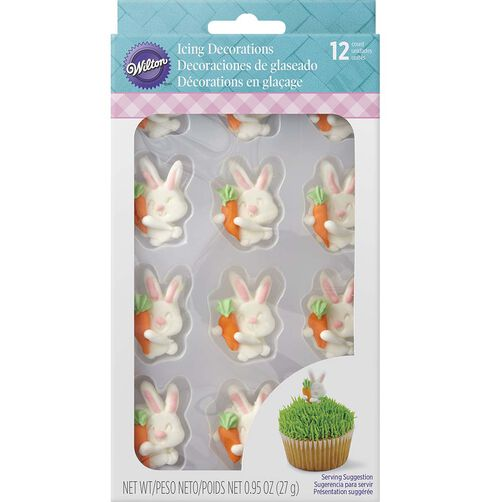 Easter Bunny with carrot icing decoration