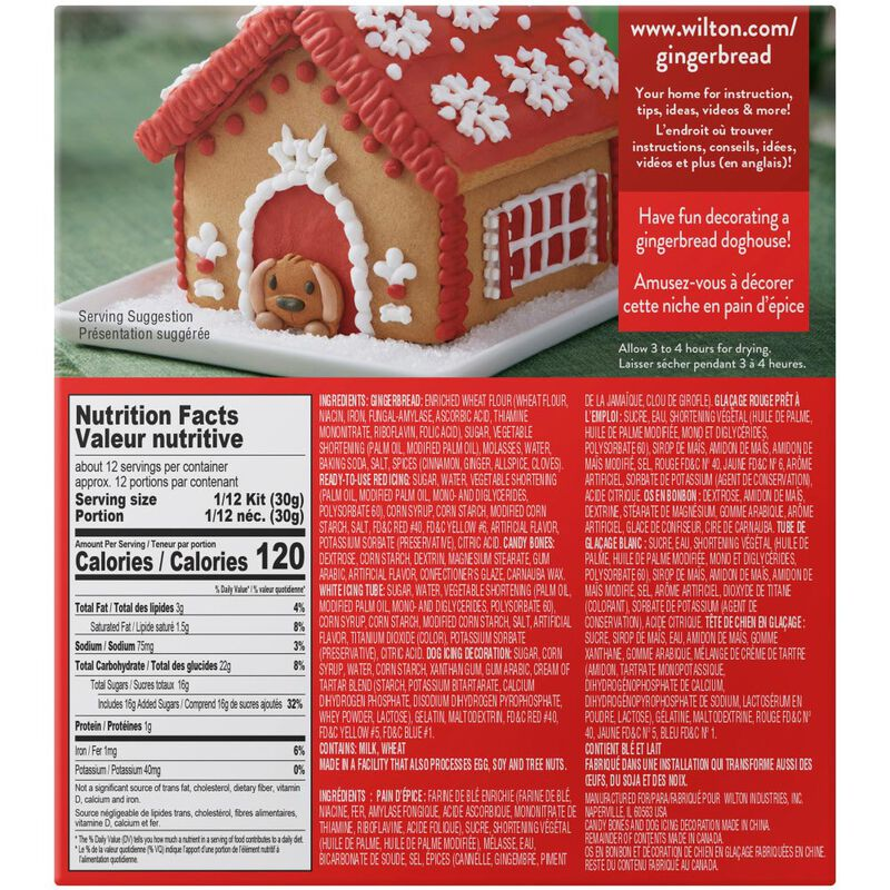 Build it Yourself A Puppy for Christmas Gingerbread Doghouse Decorating Kit image number 1
