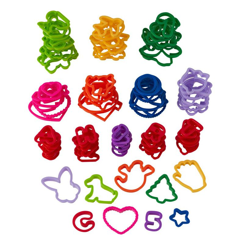 Plastic Cookie Cutter Set, 101-Piece image number 2