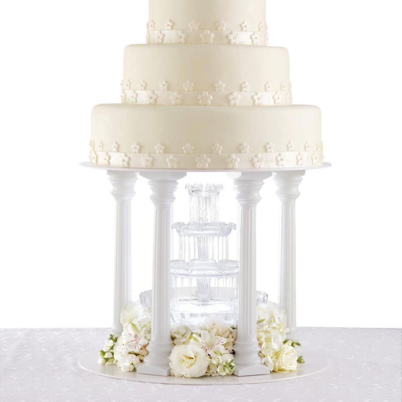 Roman Column Tiered Wedding Cake Stand, 8-Piece image number 5