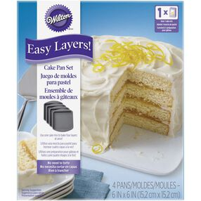 Easy Layers Square Cake Pan Set, 4-Piece