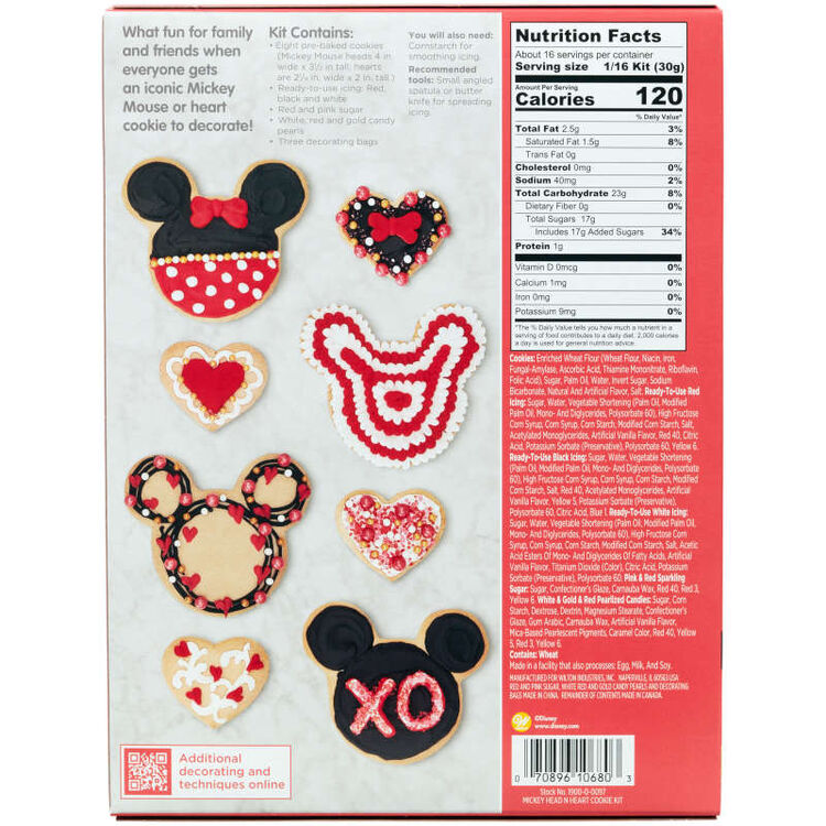 Disney Mickey Mouse Valentine's Day Cookie Kit