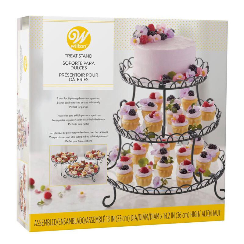 3-Tier Customizable Iron Treat Stand, 13-Inch image number 3