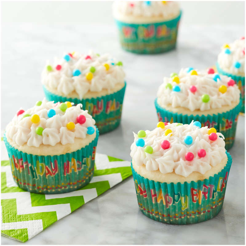 Happy Birthday Cupcake Liners, 50-Count image number 4