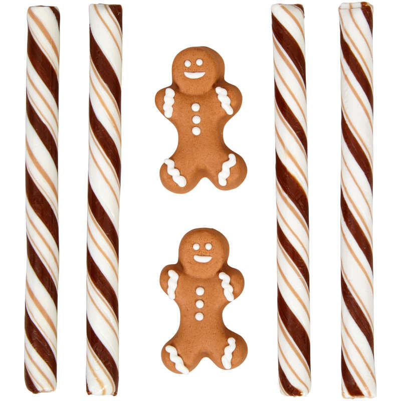 Gingerbread Boy Cocoa Trimming Kit, 5.47 oz. image number 2