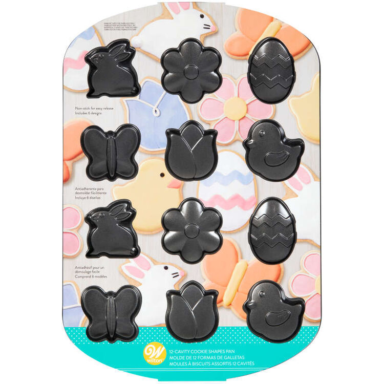 Spring Cookie Shapes Pan, 12-Cavity