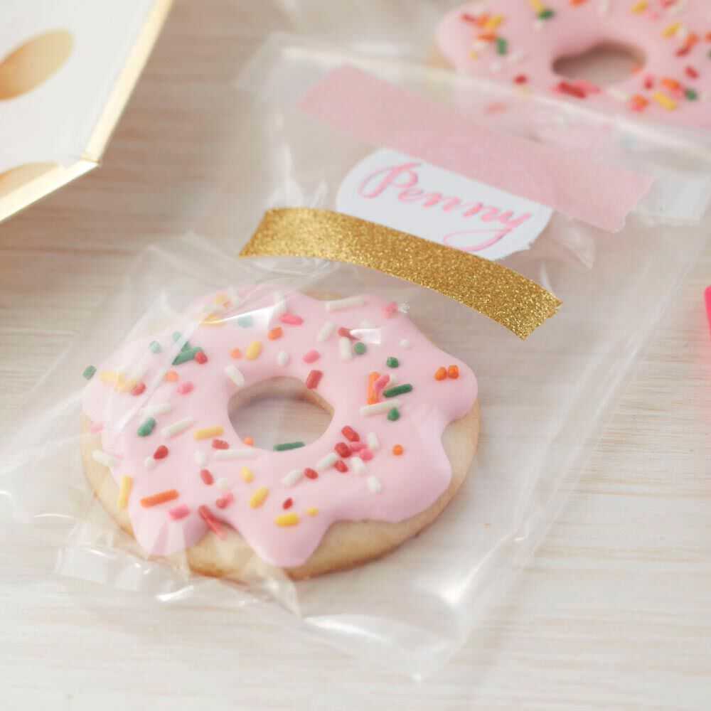 Donut Sprinkle Treat Bags 8 count