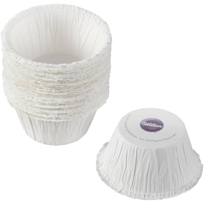 White Ruffled Cupcake Liners, 24-Count image number 2