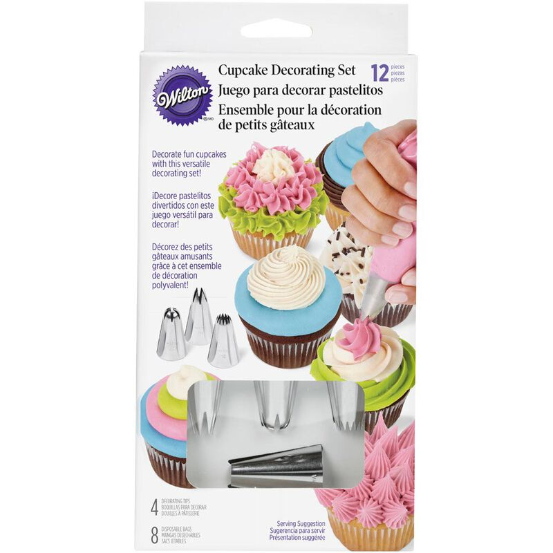 Cupcake Decorating Icing Tips, 12-Piece Set image number 2