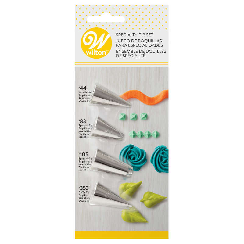 Specialty Decorating Tip Set, 4-Piece image number 0
