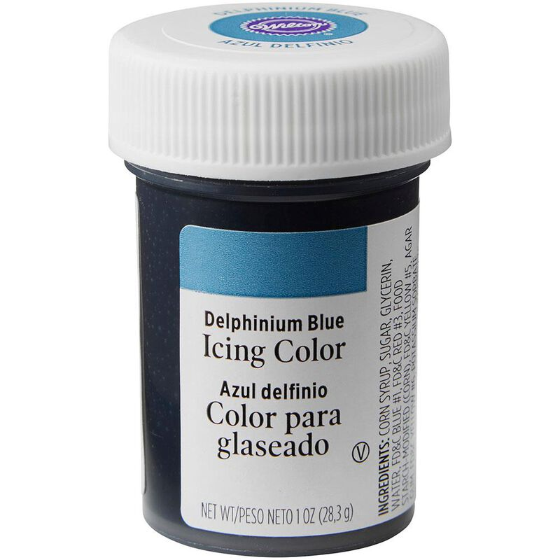 Delphinium Blue Gel Food Coloring Icing Color image number 0