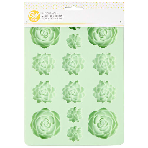 Succulents Silicone Candy Mold 14 Cavity Wilton