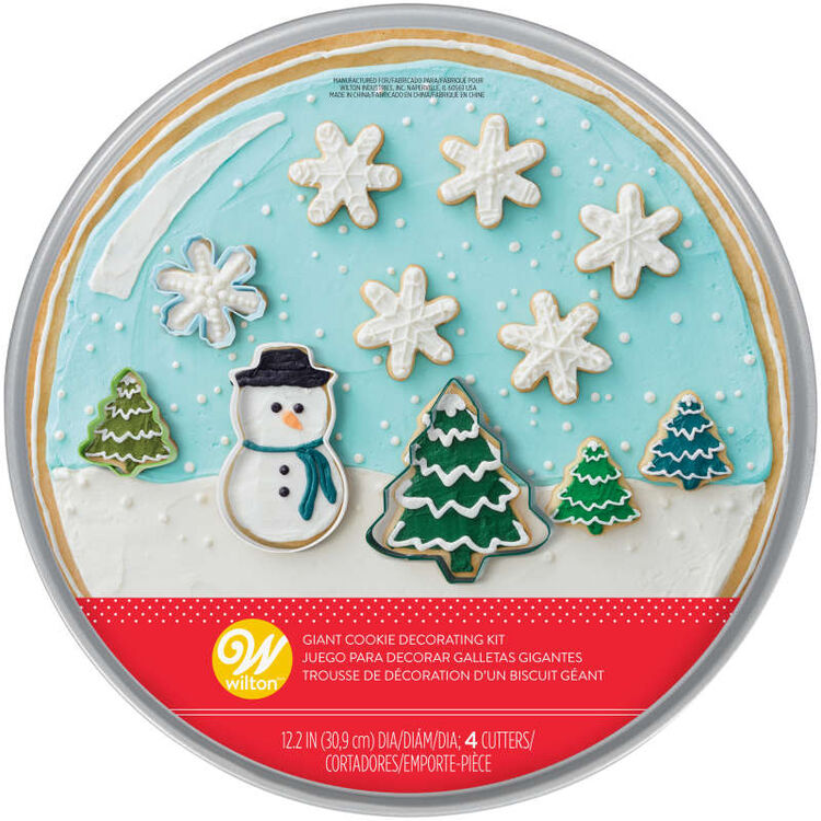 Snowglobe Giant Cookie Decorating Kit, 5-Piece