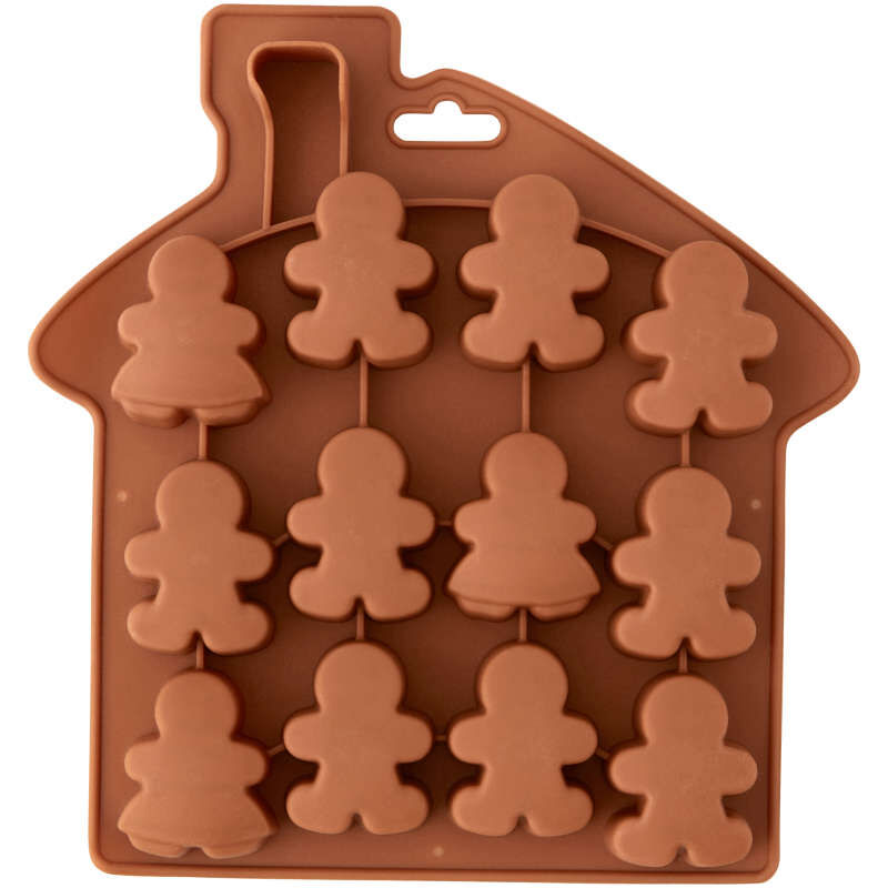 Silicone Gingerbread People Bite-Size Treat Mold, 12-Cavity image number 2