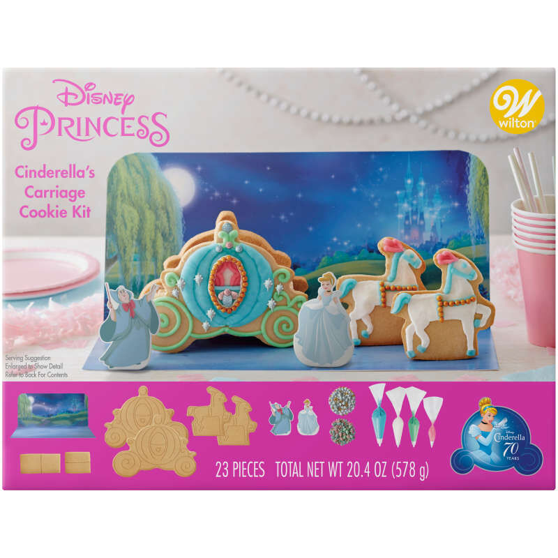 Disney Cinderella's Carriage Cookie Decorating Kit image number 0