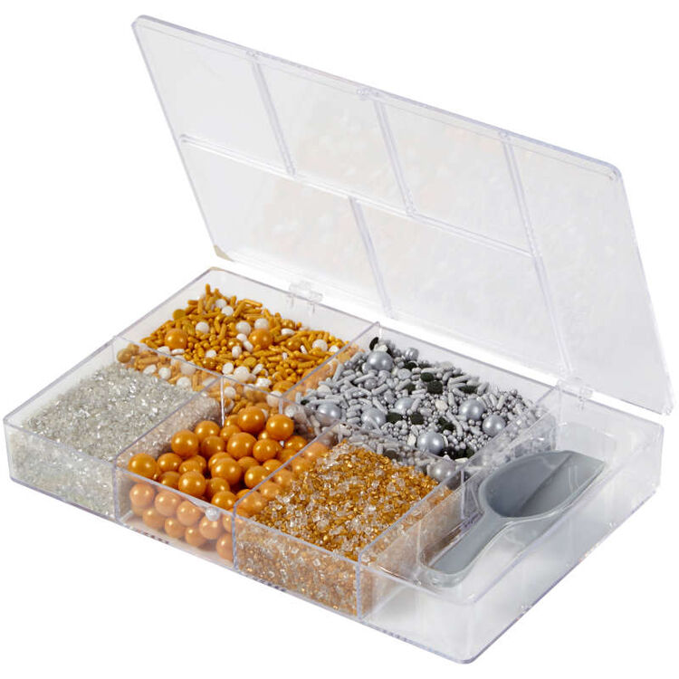 Silver and Gold Sprinkles in Tackle Box
