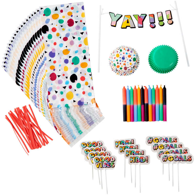 Birthday Party Decorating Kit Components Out of Packaging image number 0