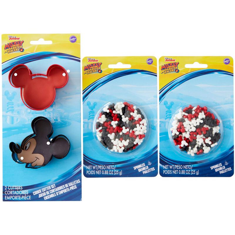 Mickey and The Roadster Racers Cookie Cutter and Sprinkles Decorating Set, 4-Piece image number 2