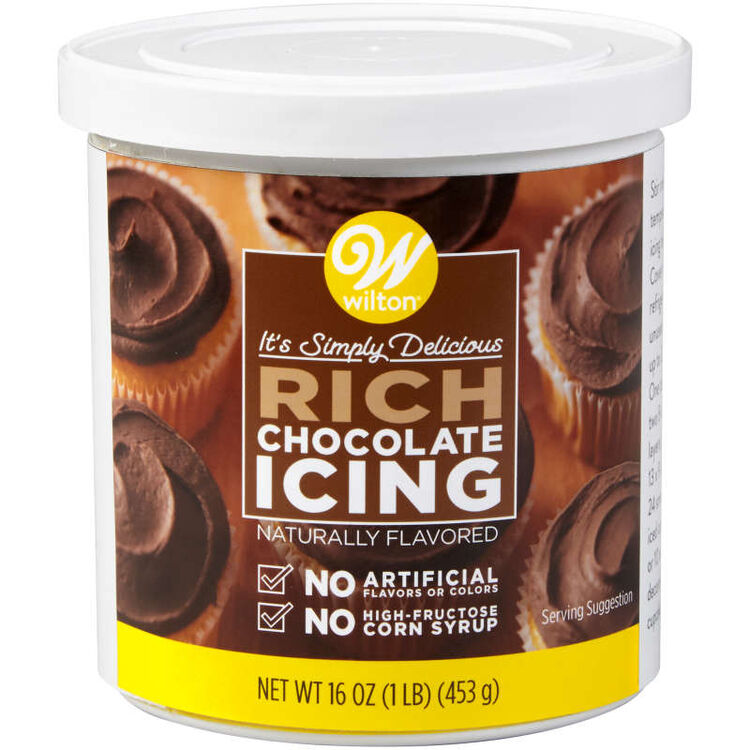 Naturally Flavored Rich Chocolate Frosting Container