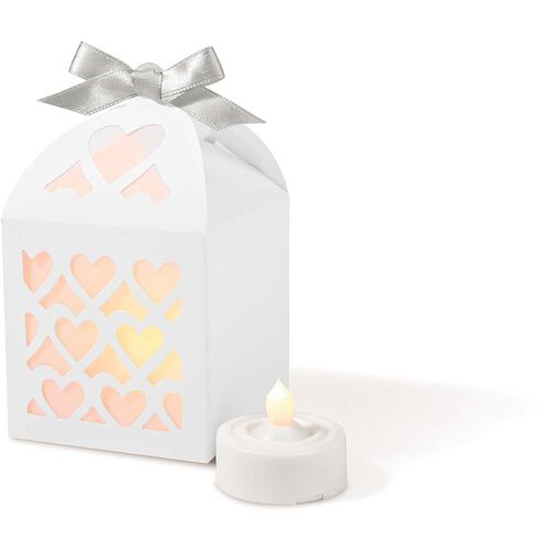 White Paper Lantern Favor Kit