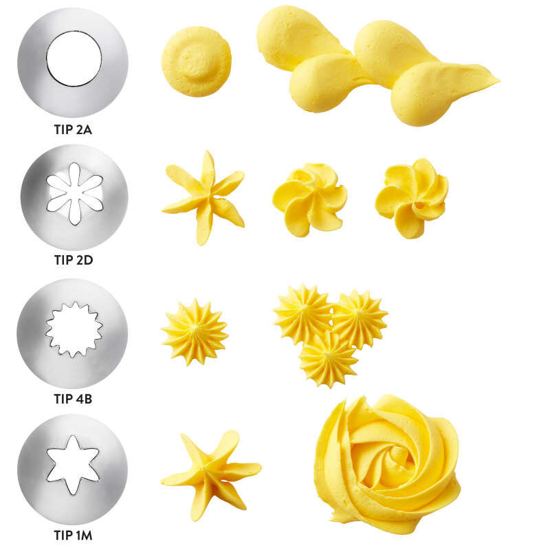 Cupcake Decorating Icing Tips, 12-Piece Set image number 1