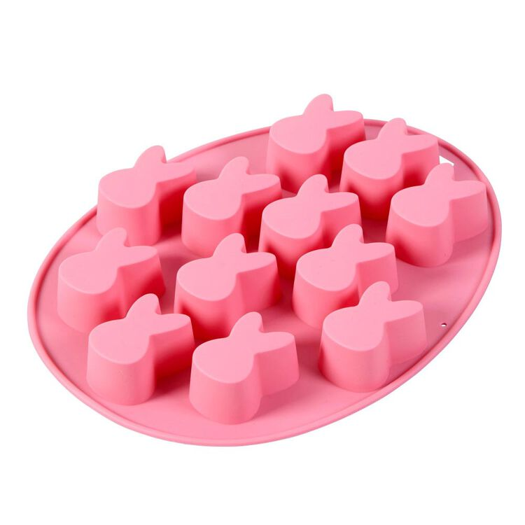 Easter Bunny Silicone Treat Mold, 12-Cavity