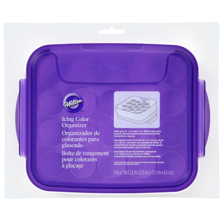 Icing Color Organizer Case - Cake Decorating Supplies