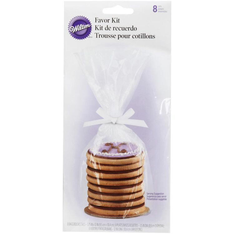 Mini Cookie Gift Plate Kit, 8-Count