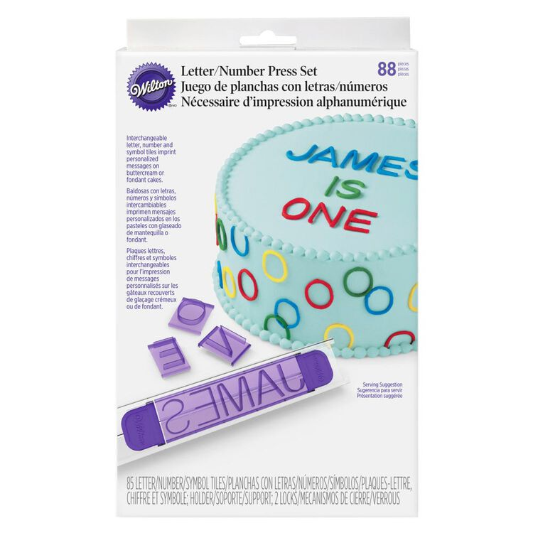 Cake Letter and Number Press Set, 88-Piece