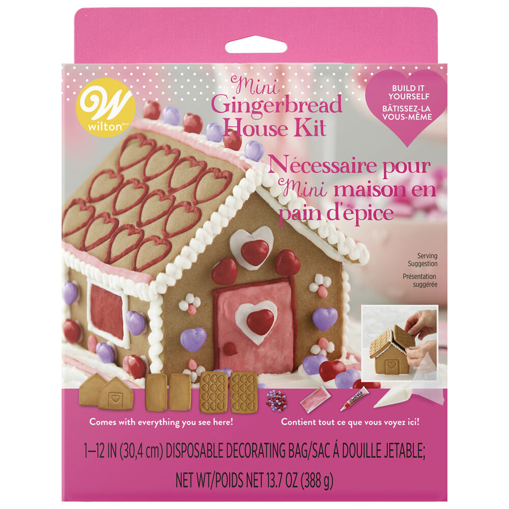 Build-It-Yourself Valentine\'s Day Gingerbread House Kit | Wilton