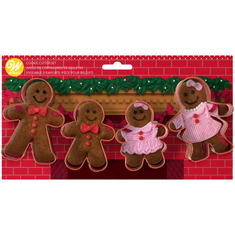 Gingerbread Family Cookie Cutter Set, 4-Piece
