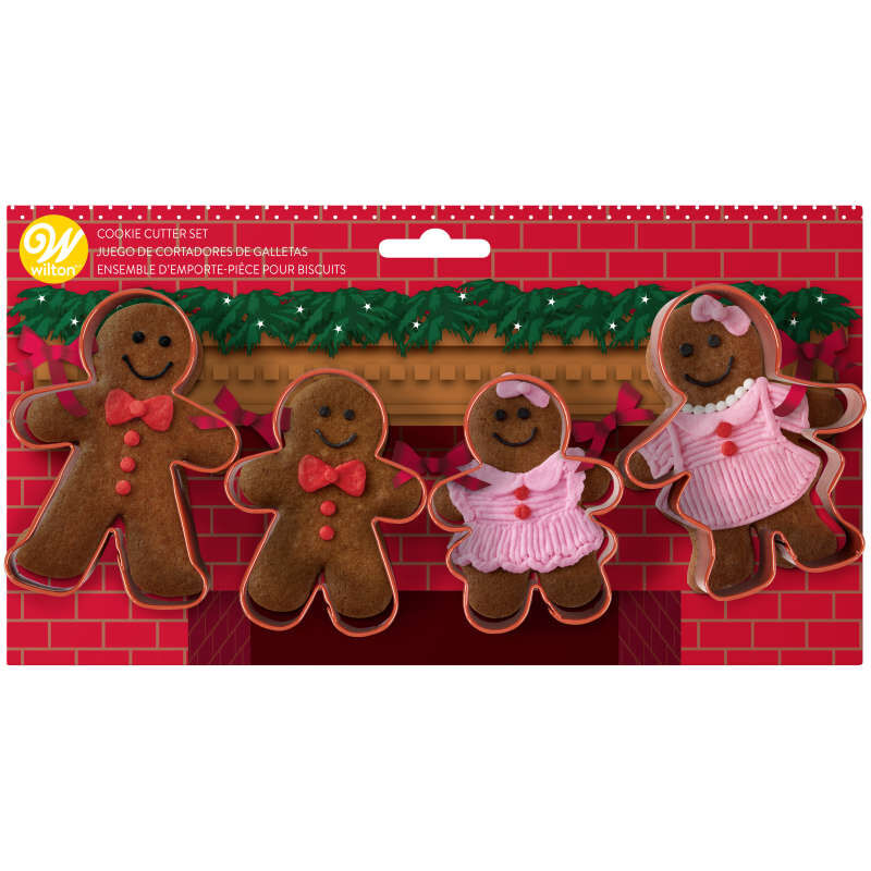 Gingerbread Family Cookie Cutter Set, 4-Piece image number 1