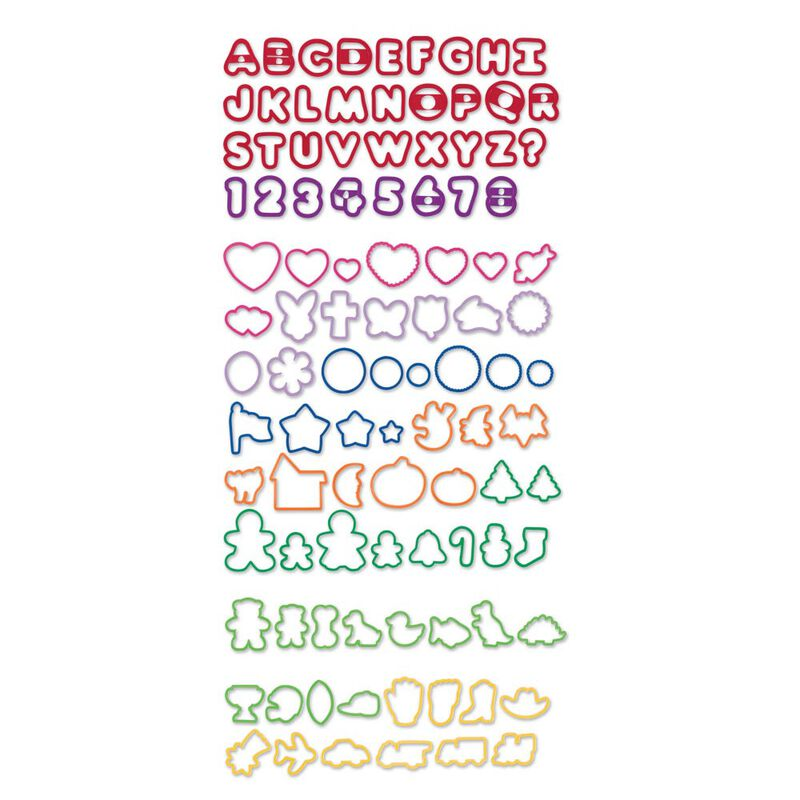 Plastic Cookie Cutter Set, 101-Piece image number 0