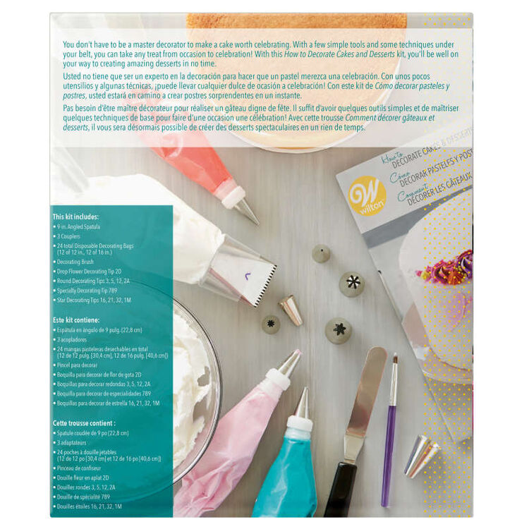 How to Decorate Cakes and Desserts Kit, 39-Piece