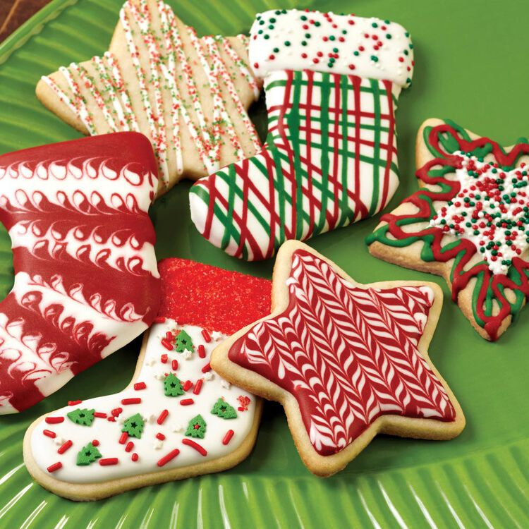 Red & Green Holiday Cookie Icing, Multipack of 6