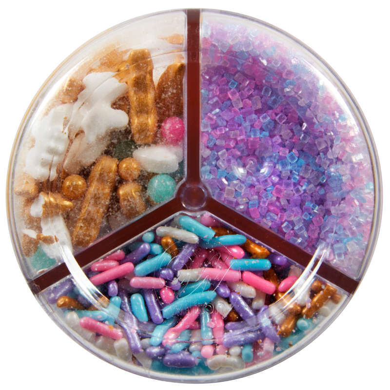 3-Cell Unicorn Sprinkles Mix with Turning Lid, 7.76 oz. image number 2