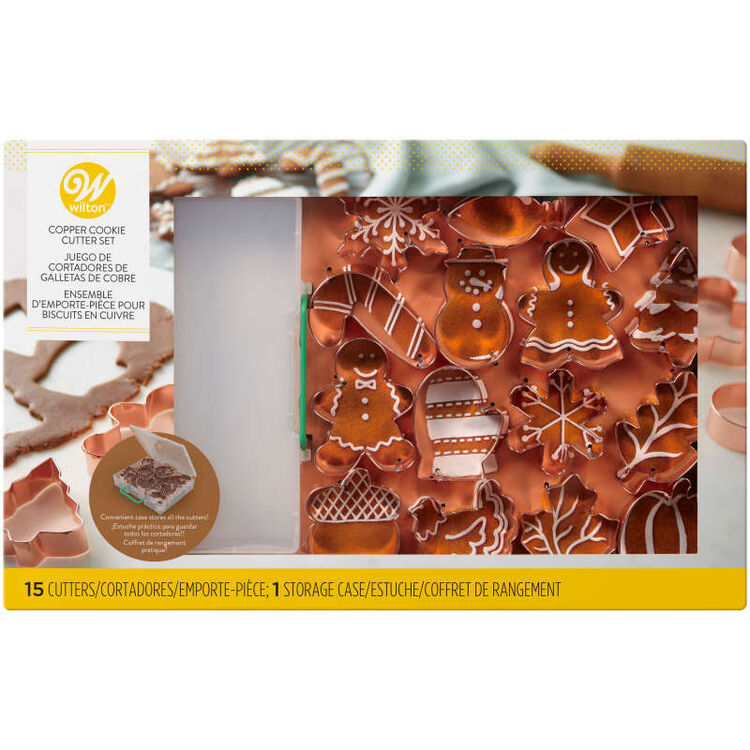 Copper Cookie Cutter Set, 16-Piece