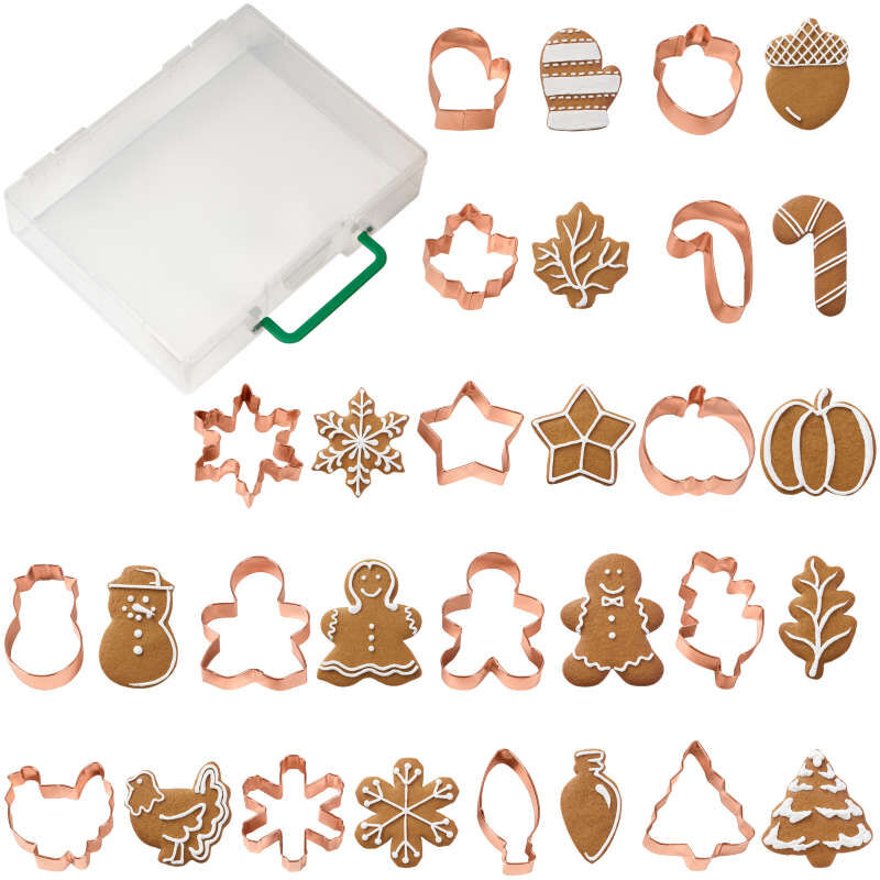 Copper Cookie Cutter Set, 16-Piece image number 0