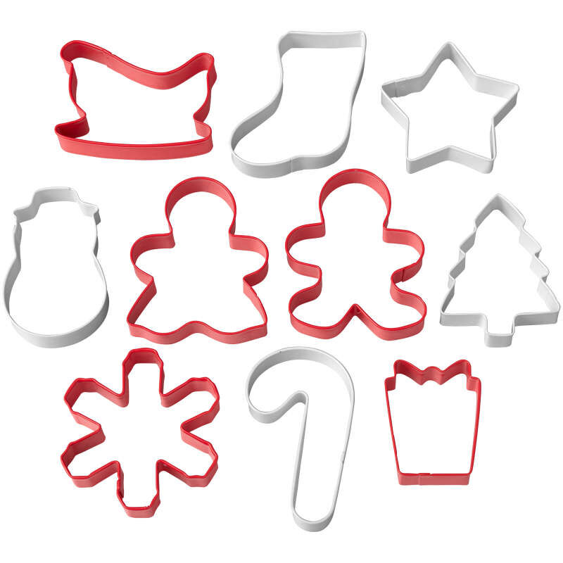 Christmas Cookie Cutter Set, 10-Piece image number 0