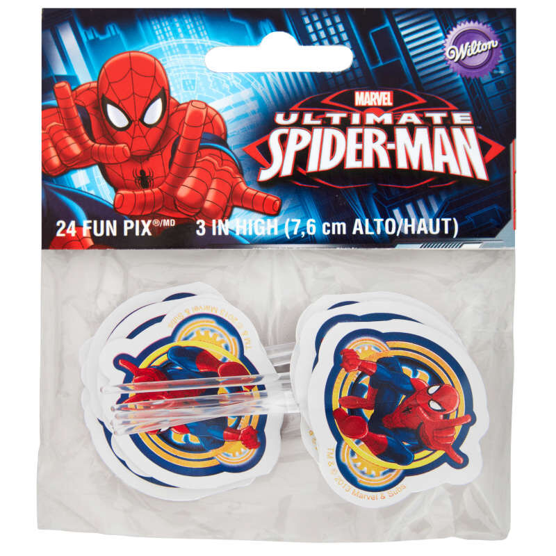 Marvel Ultimate Spider-Man Cupcake Toppers, 24-Count image number 1